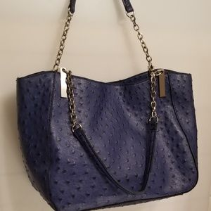 Handbags - Ostrich Embossed Chain Tote
